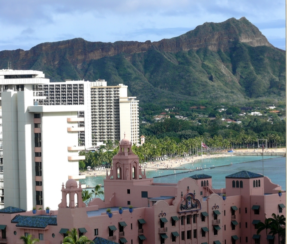 Visiting Diamond Head National Park hotel view