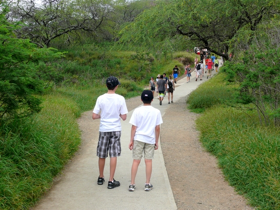 Visiting Diamond Head National Park  1st part of trail