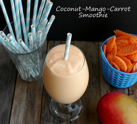 Coconut Mango Carrot Smoothie