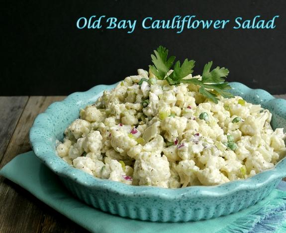 Old Bay Cauliflower Salad grilling side dish