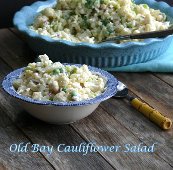 Old Bay Cauliflower Salad perfect side dish for a BBQ