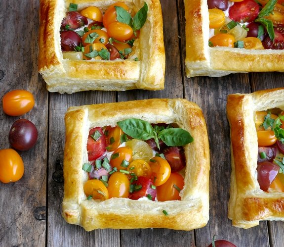 Puff Pastry Tomato Tarts perfect appetizer or side dish