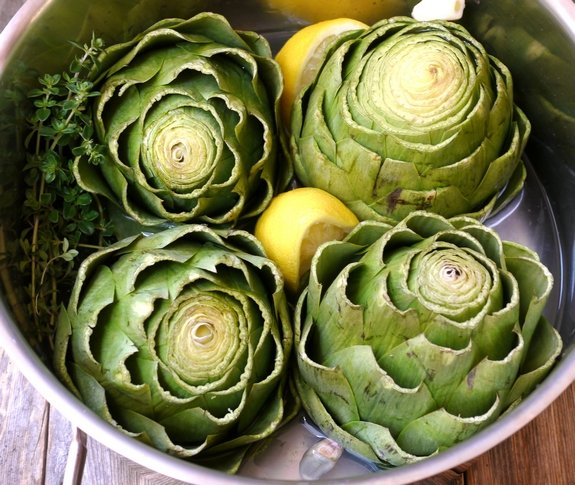 Steamed Artichokes with Garlic Orange Basil Cream Dipping Sauce ...