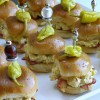 Creamy Garlic Mustard-Chicken Sliders with Bacon and Peperoncini