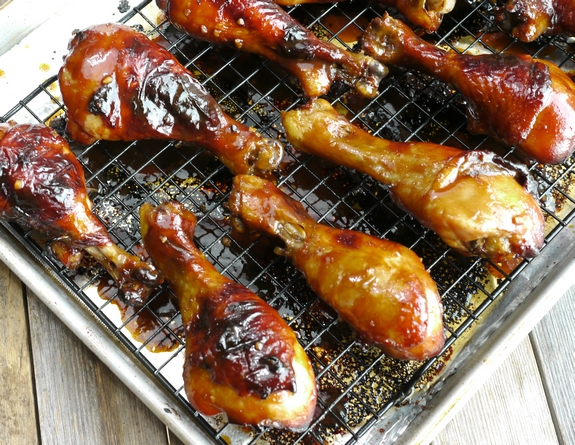 Brined and Glazed Hoisin Drumsticks perfect for dinner