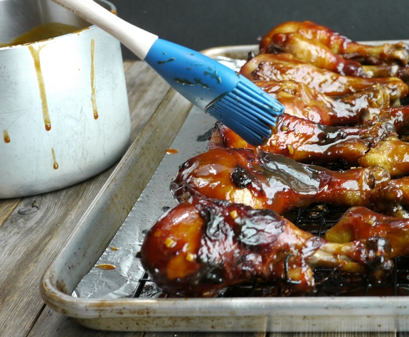 Brined and Glazed Hoisin Drumsticks sauce