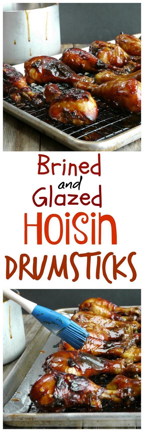 Brined and Glazed Hoisin Drumsticks