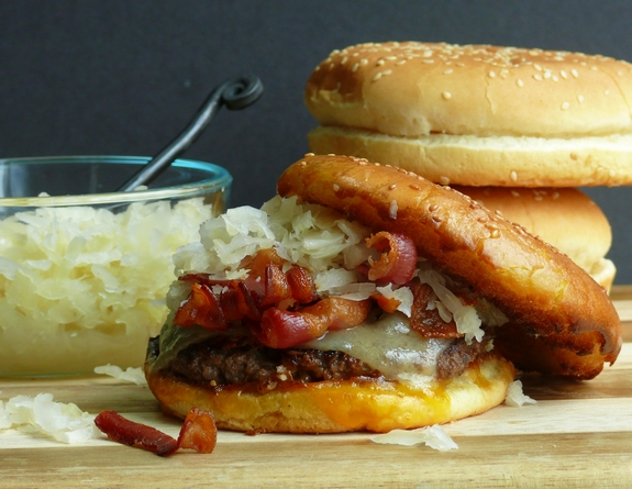 Double Kraut Double Cheese Burgers