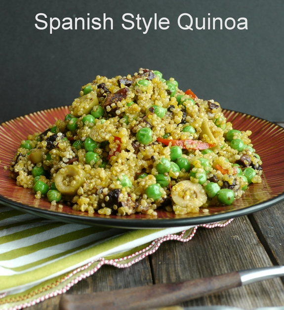 Spanish Style Quinoa the perfect side dish