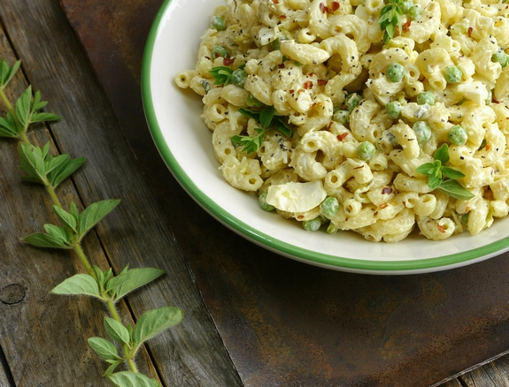 Spicy Horseradish Macaroni Salad a great BBQ side dish
