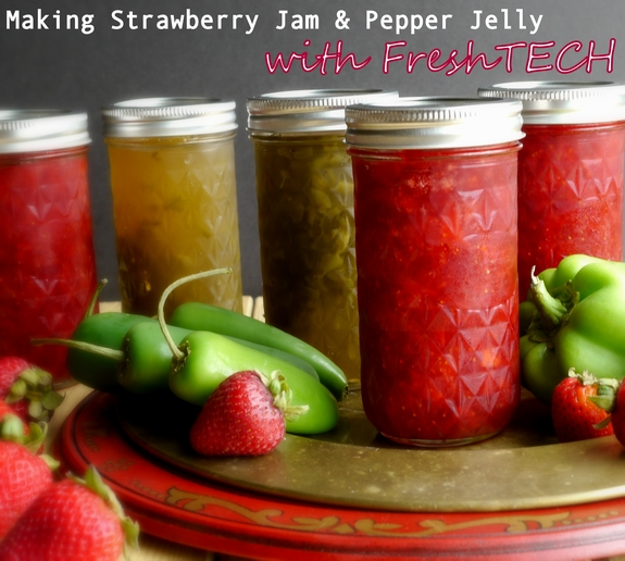 Strawberry Jam Pepper Jelly with FreshTech
