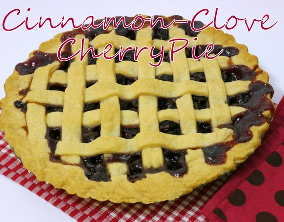 Cinnamon Clove Cherry Pie lattice crust