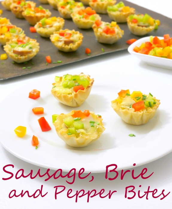 Sausage Brie and Pepper Bites yummy bites for a party