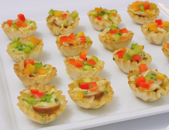 Sausage Cheese and Pepper Bites perfect appetizer for a party