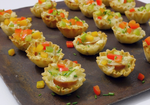 Sausage Cheese and Pepper Bites