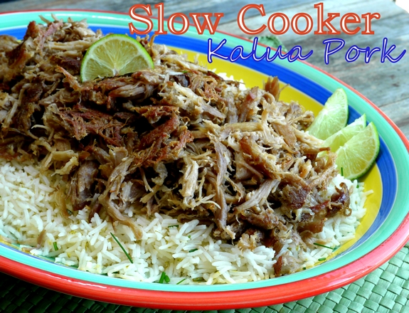Slow Cooker Kalua Pork with Chive Lime Rice lovely meal