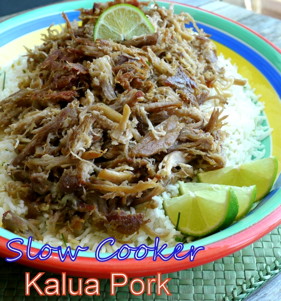 Slow Cooker Kalua Pork with Chive-Lime Rice + VIDEO | Noble Pig