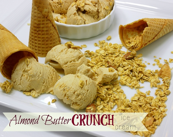 Almond Butter Crunch Ice Cream an ice cream rich in flavor