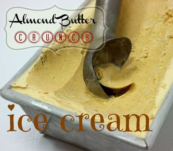 Almond Butter Crunch Ice Cream scooped