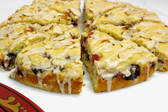 Cherry Almond Coffee Cake perfect anytime 10lbcherrychallenge