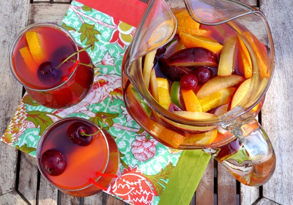 Cherry Orange Sangria summertime drink
