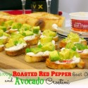 Creamy-Roasted-Red-Pepper-Goat-Cheese-and-Avocado-Crostini-from-Noble-Pig