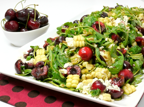 Fresh Corn and Cherry Salad with Balsamic Vinaigrette