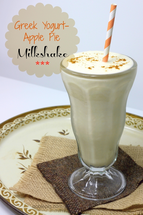 Greek Yogurt Apple Pie Milkshake