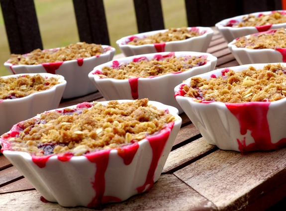 The Perfect Cherry Berry Crumble you wont be able to eat just one