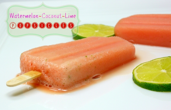 Watermelon Coconut Lime Popsicles cool treat
