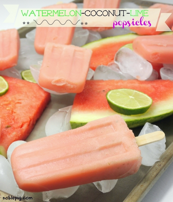 Watermelon Coconut Lime Popsicles summertreat 1