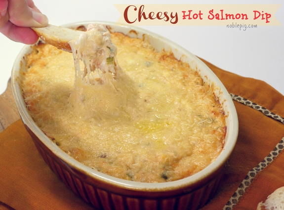 Cheesy Hot Salmon Dip