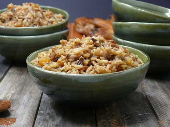 Cinnamon Spiced Rice the perfect side dish