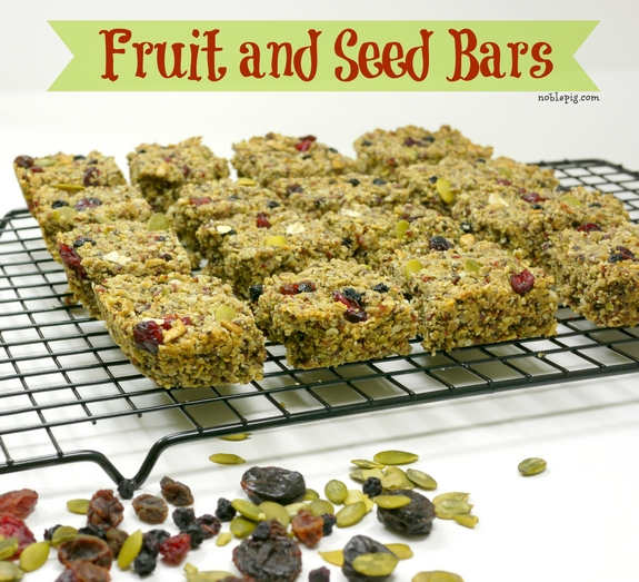 Fruit and Seed Bars {nut free} + Giveaway | Noble Pig