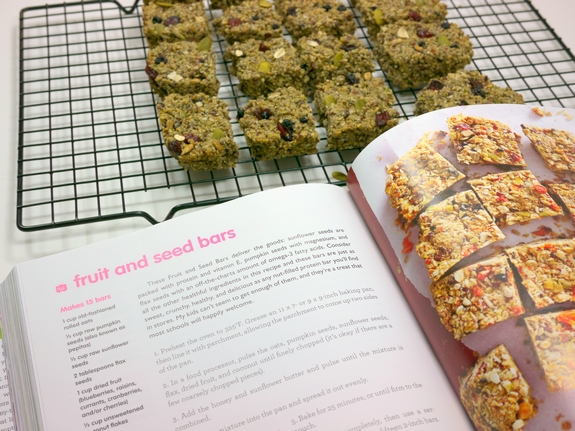 Fruit and Seed Bars and Weelicious Cookbook
