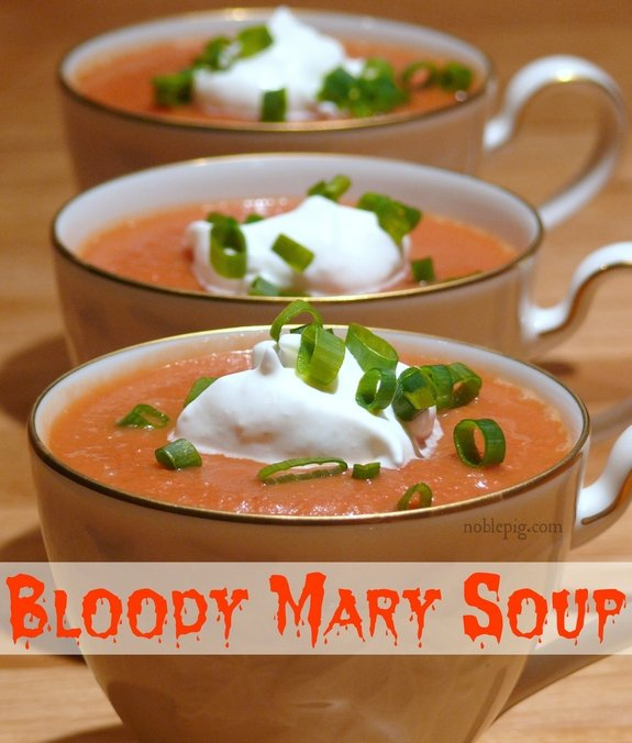 Bloody Mary Soup for Halloween