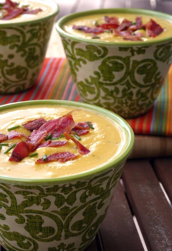 Butternut Bacon Boursin Soup