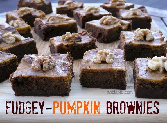 Fudgey Pumpkin Brownies