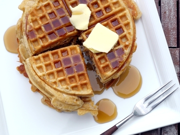 Brown Butter-Pumpkin Pie Spiced Belgian Waffles | Noble Pig