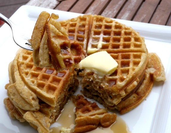 Brown Butter Pumpkin Spice Belgium Waffles are perfect for a pre ...