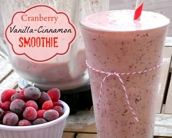 Cranberry Vanilla Cinnamon Smoothie