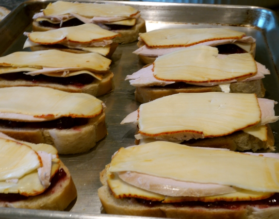 Leftover Turkey Cranberry Monte Cristo Sandwiches open