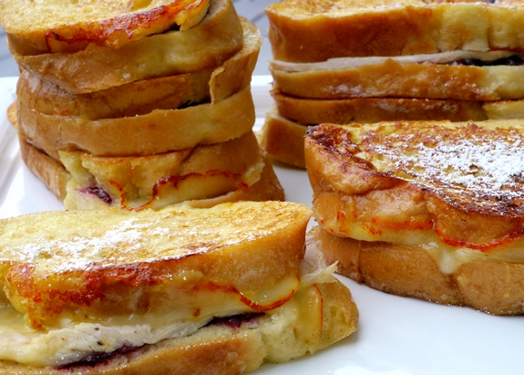 Leftover Turkey Cranberry Monte Cristo Sandwiches the perfect after holiday lunch