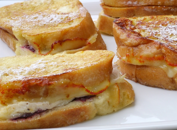 Leftover Turkey Cranberry Monte Cristo Sandwiches