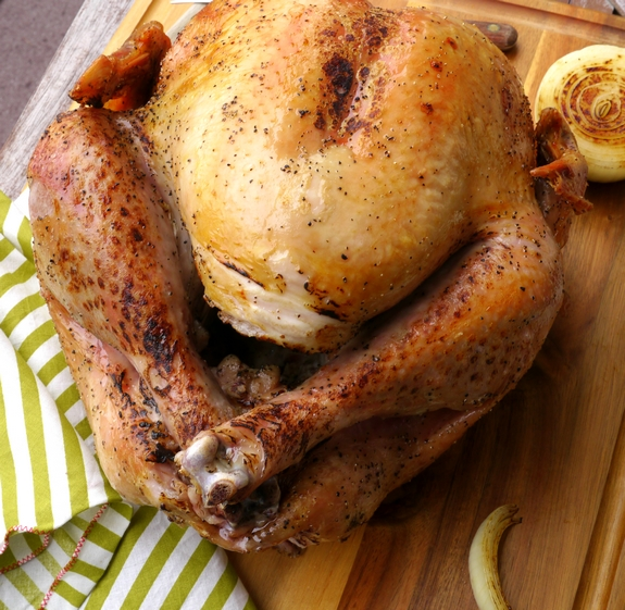 Salt and Pepper Turkey made in an Electric Outdoor Roaster a quick and easy process