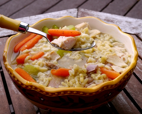 Turkey Alpabet Soup perfect Thanksgiving Leftovers