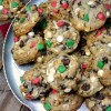 Festive Chocolate-Cherry Chip Cookies
