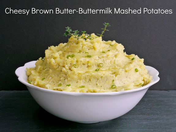 Cheesy Brown Butter Buttermilk Mashed Potatoes the perfect holiday side dish