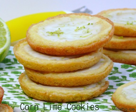 Corn Lime Cookies How beautiful are these holiday