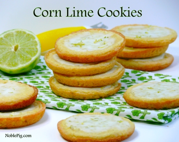 Corn Lime Cookies a beautiful citrus cookie with a zesty lime Ice